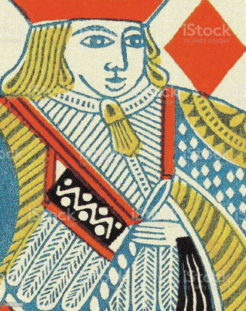 King of Diamonds royalty-free stock vector art