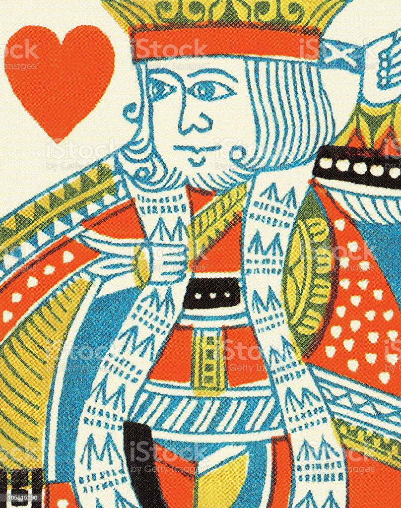 King of Hearts royalty-free stock vector art