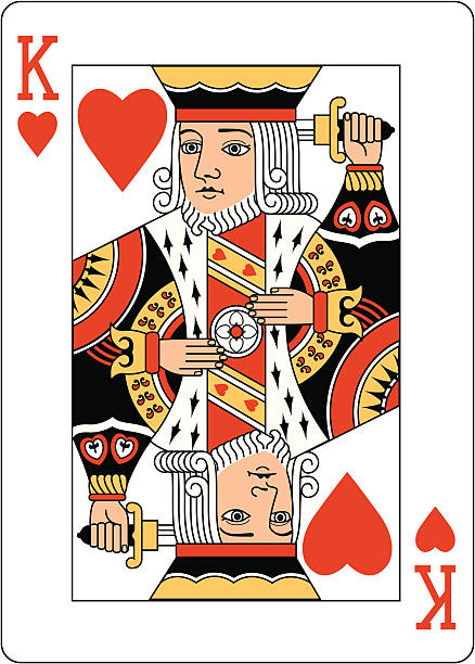 royalty free king of hearts clip art vector images