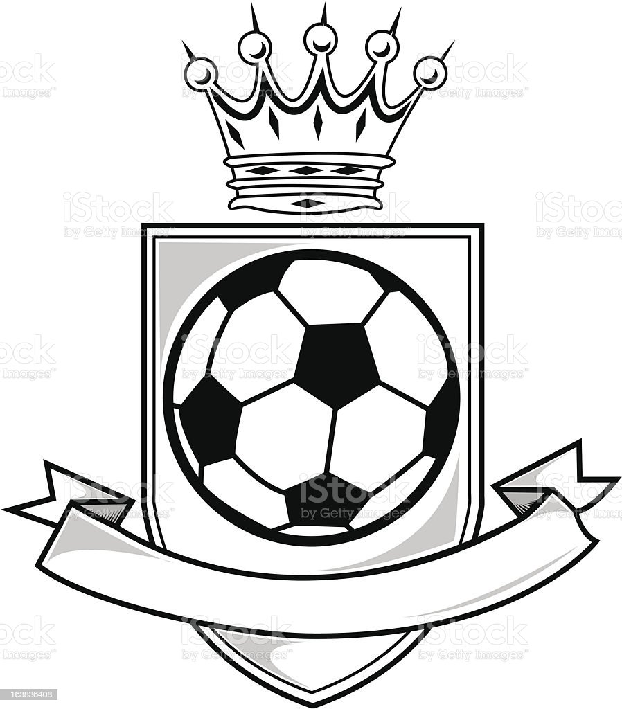 king of soccer shield and name banner stock vector art more images rh istockphoto com