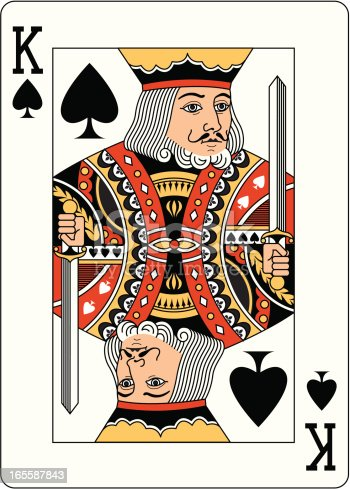 king of spades two playing card stock vector art amp more