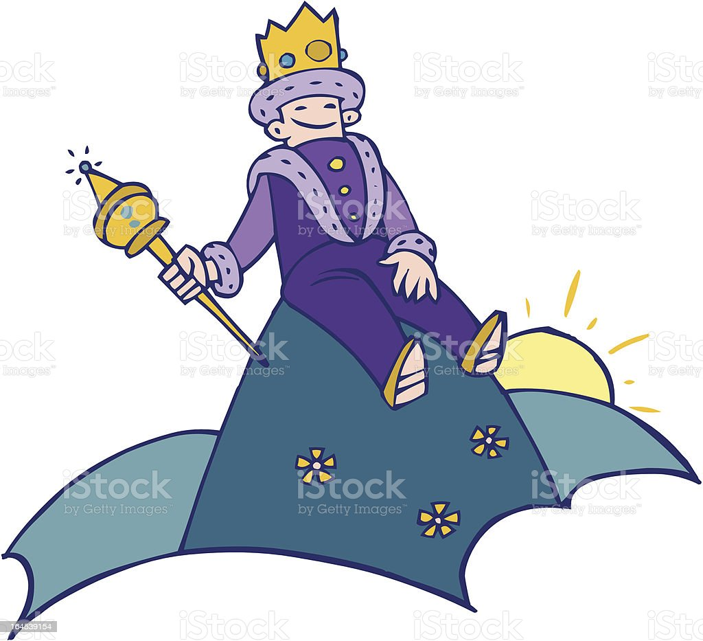 king of the hill royalty-free stock vector art