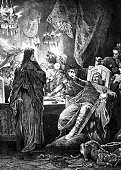 King of the Lombards Alboin forces his wife to drink from her father's skull
