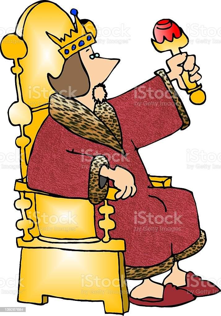 King on his throne royalty-free stock vector art