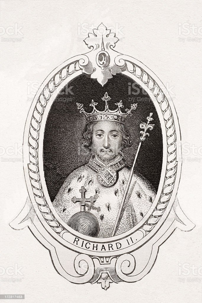 King Richard II royalty-free stock vector art