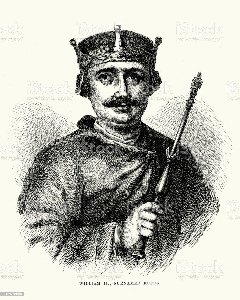 King William II of England royalty-free stock vector art