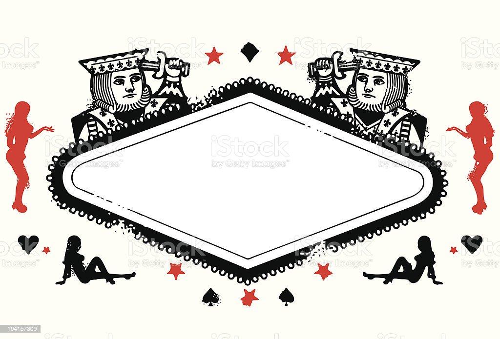 Kings Vegas Sign royalty-free stock vector art