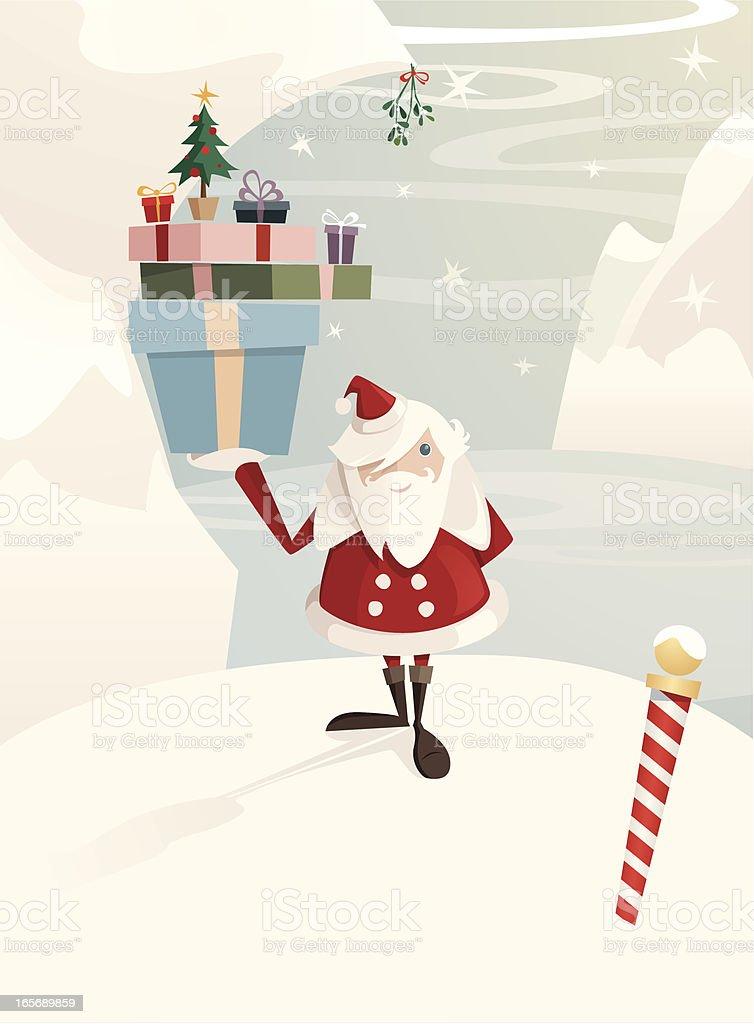 Kiss Santa royalty-free stock vector art