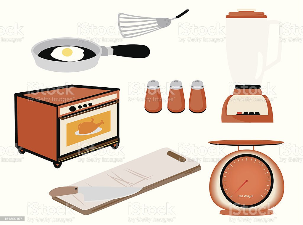 Kitchen Icons royalty-free stock vector art