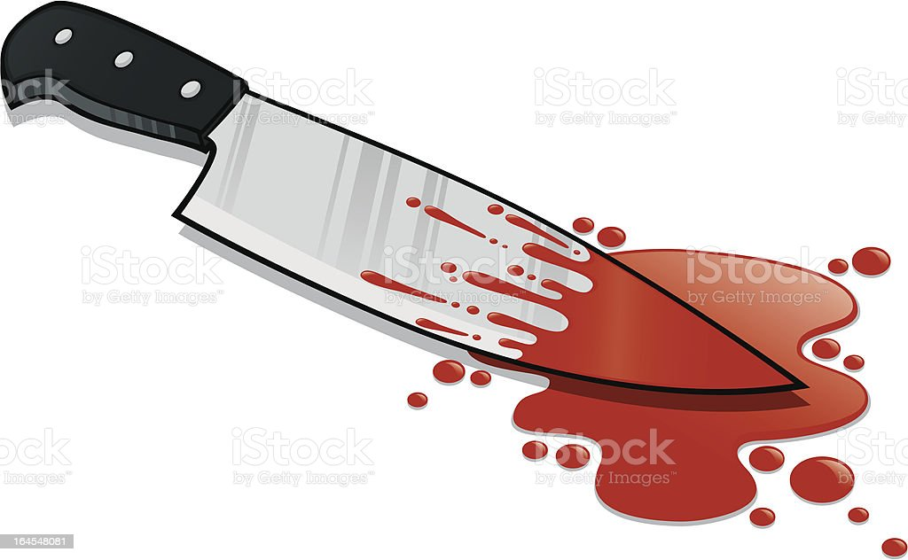 Kitchen Knife Blood Stained royalty-free kitchen knife blood stained stock vector art & more images of 2000-2009