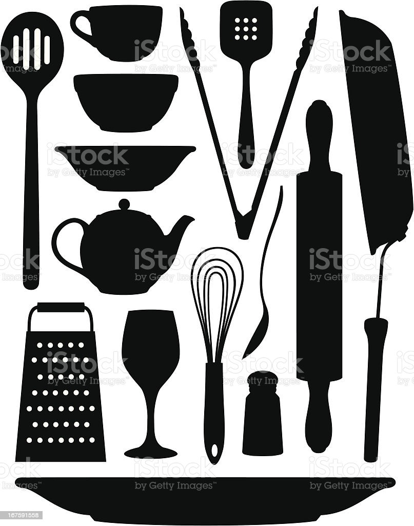 Kitchen Stuff Stock Vector Art & More Images of Bowl 167591558 | iStock