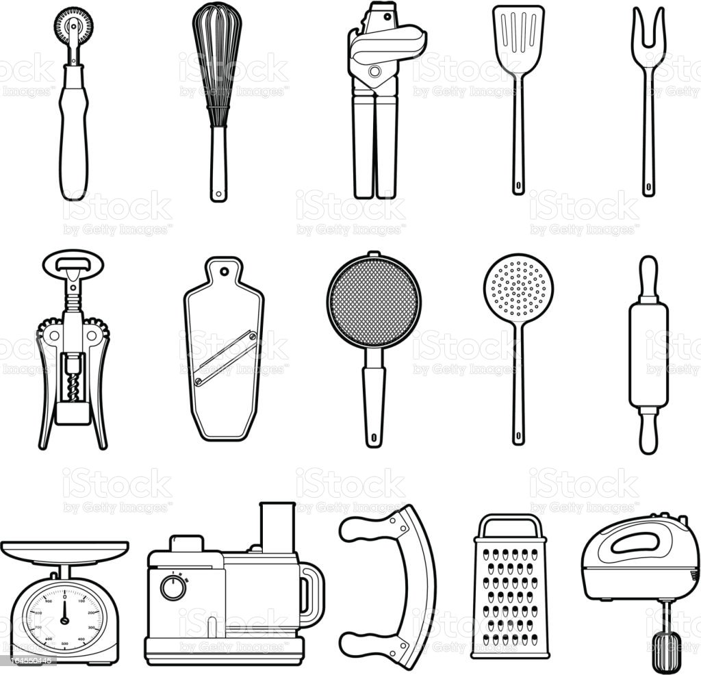 Kitchen Tools royalty-free kitchen tools stock vector art & more images of can opener