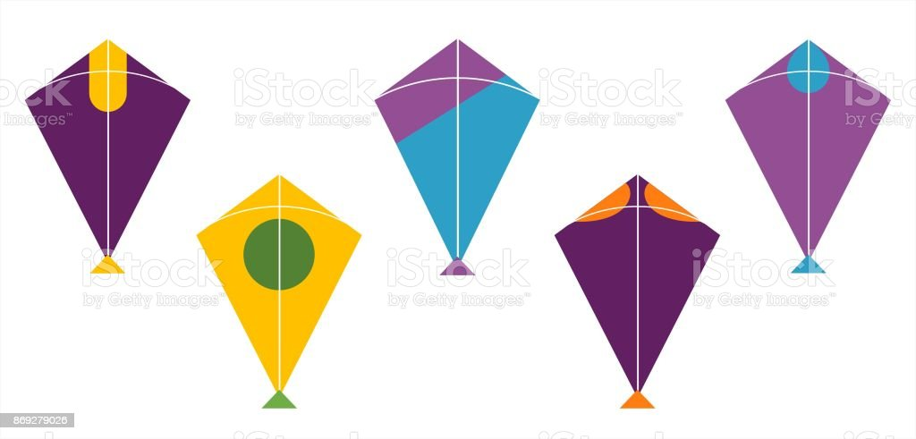 Kite Design Colour Patterns Stock Vector Art More Images Of