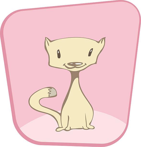 Kätzchen auf pink – Vektorgrafik