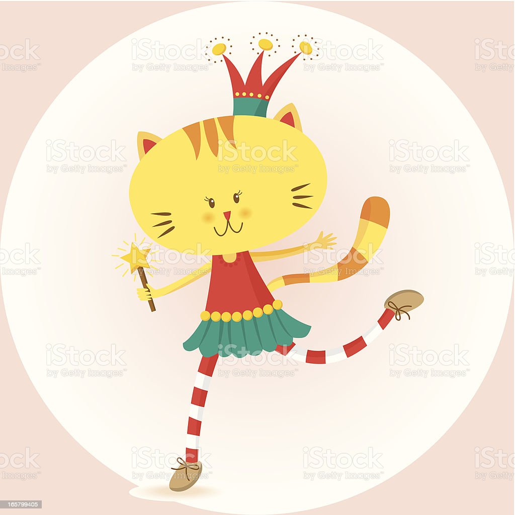 Kitty as a fairy princess royalty-free kitty as a fairy princess stock vector art & more images of animal