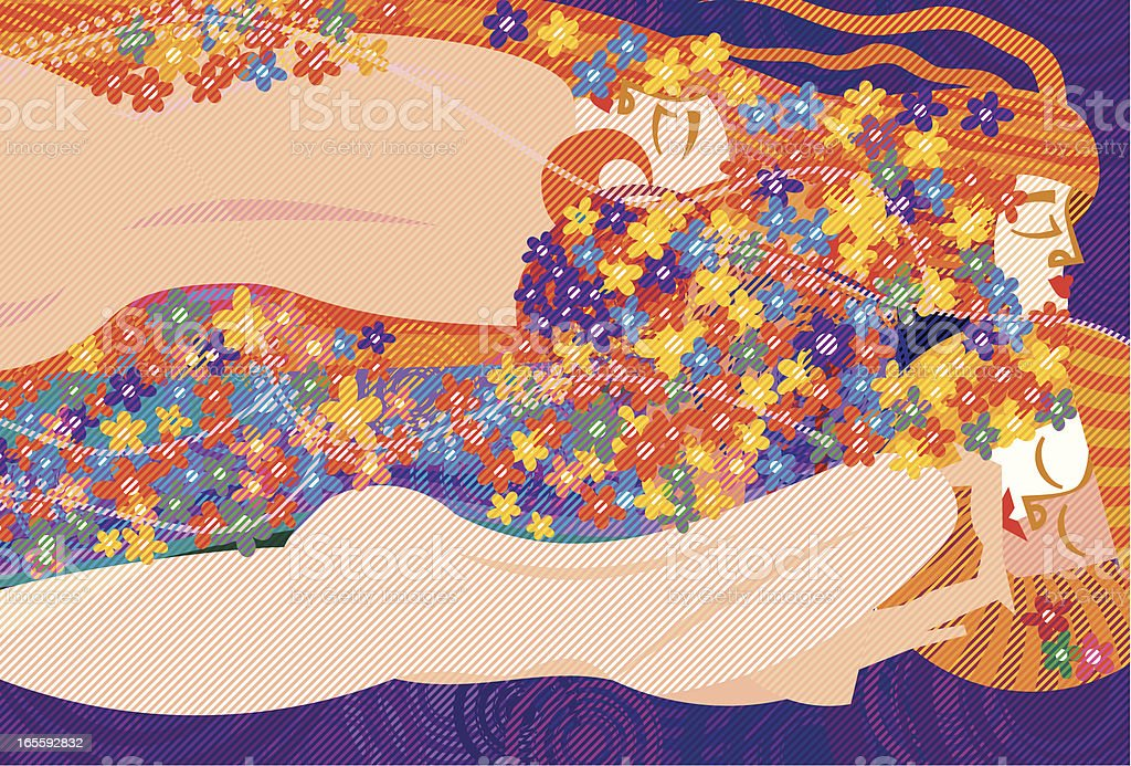 Klimt's Women vector art illustration