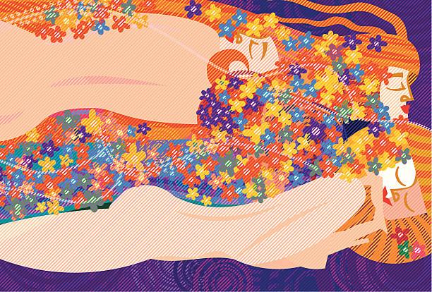 Klimt's Women vector art illustration
