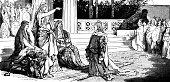 istock Kneeling before the Queen 1222562136