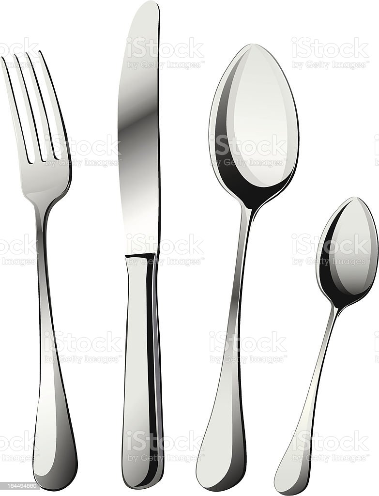 Knife, fork and spoons vector royalty-free stock vector art