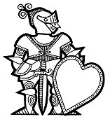 Knight Holding Heart Shield