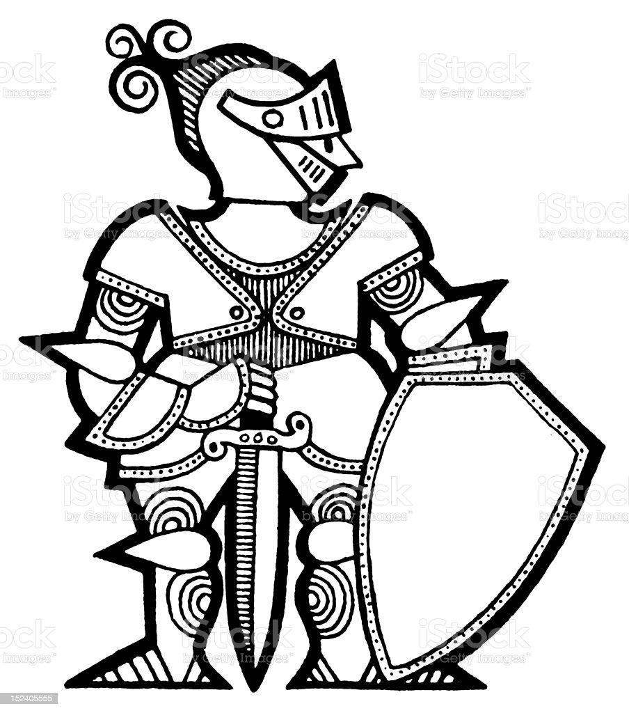 Knight in Armor royalty-free stock vector art