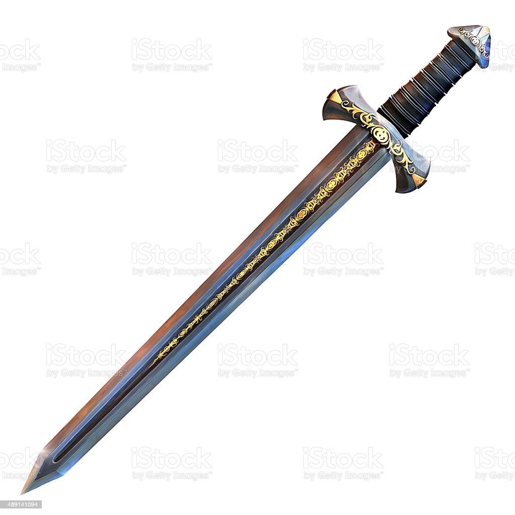 Knight Sword vector art illustration