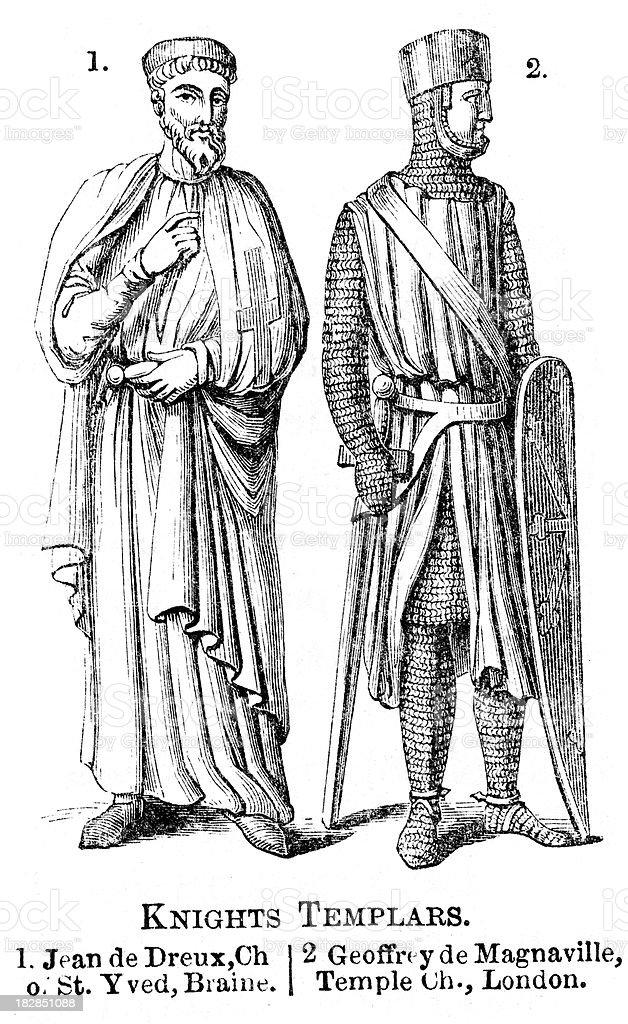 Knights Templar vector art illustration