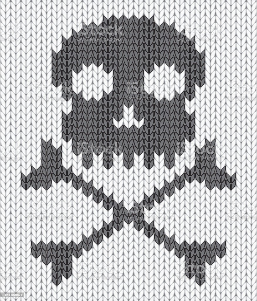 Knitted background with skull royalty-free stock vector art
