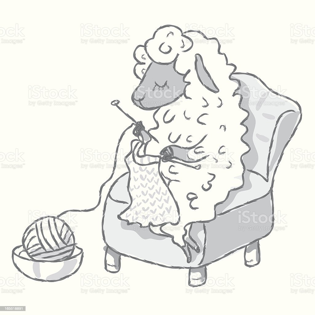 Knitting Sheep Stock Vector Art & More Images of Animal ...