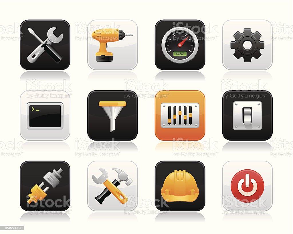 Knobico icons - Tools royalty-free stock vector art