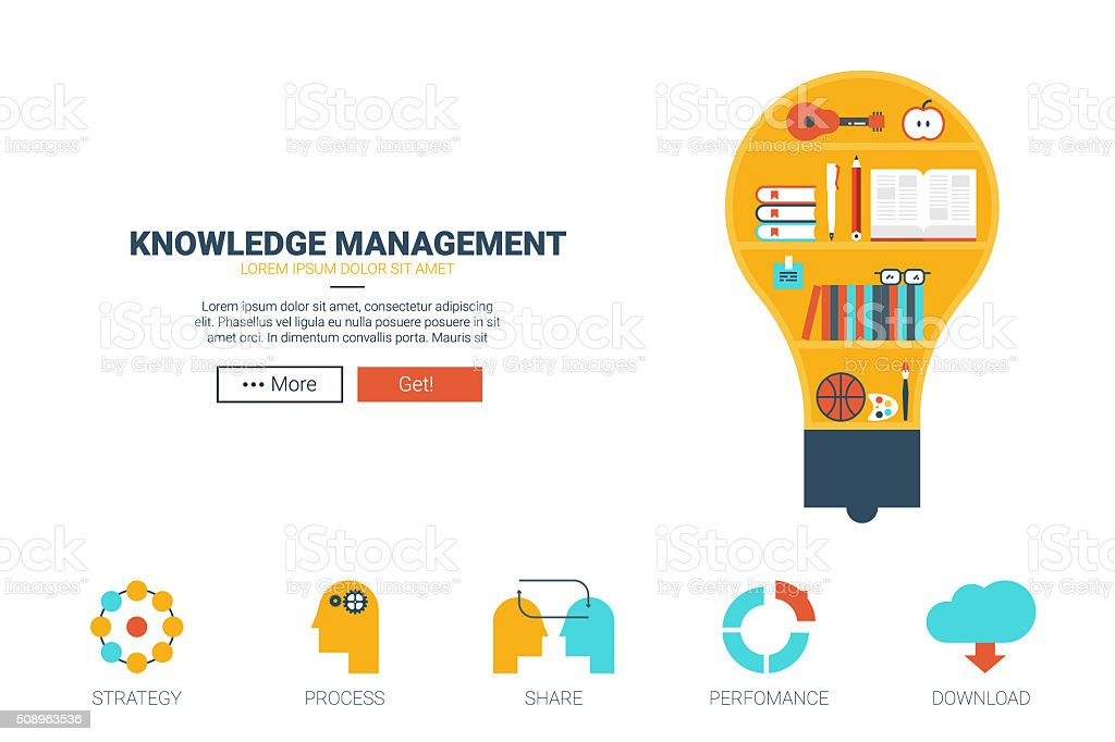 Knowledge Management Website Template Stock Vector Art & More Images ...