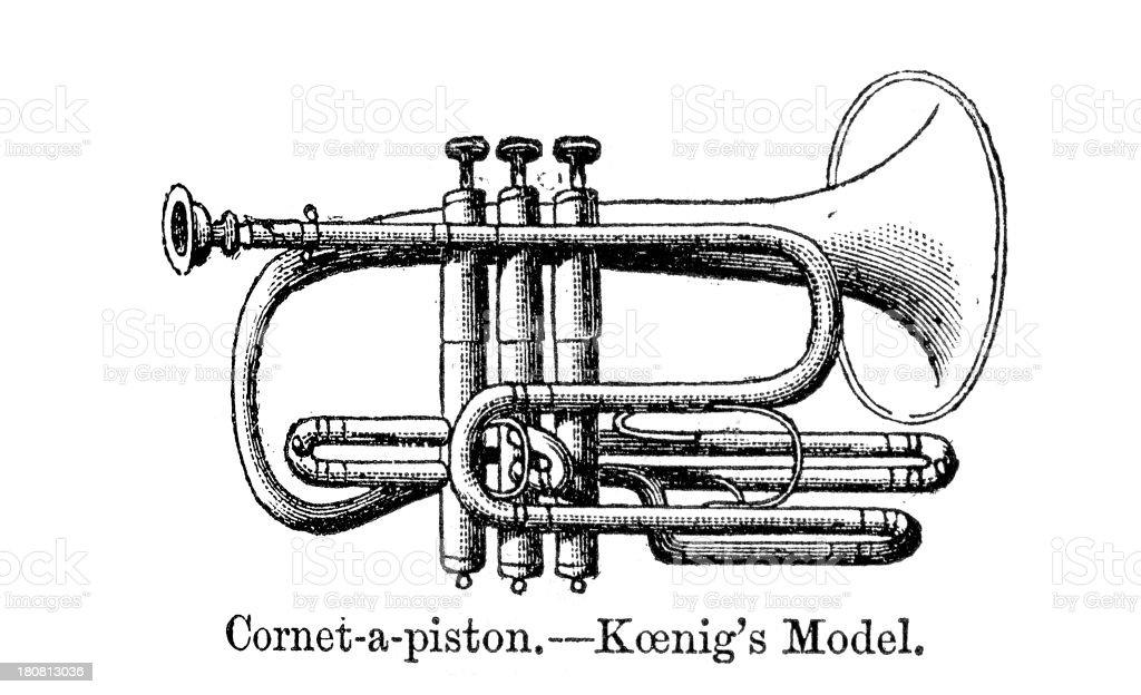 Koenig's Model Cornet royalty-free stock vector art
