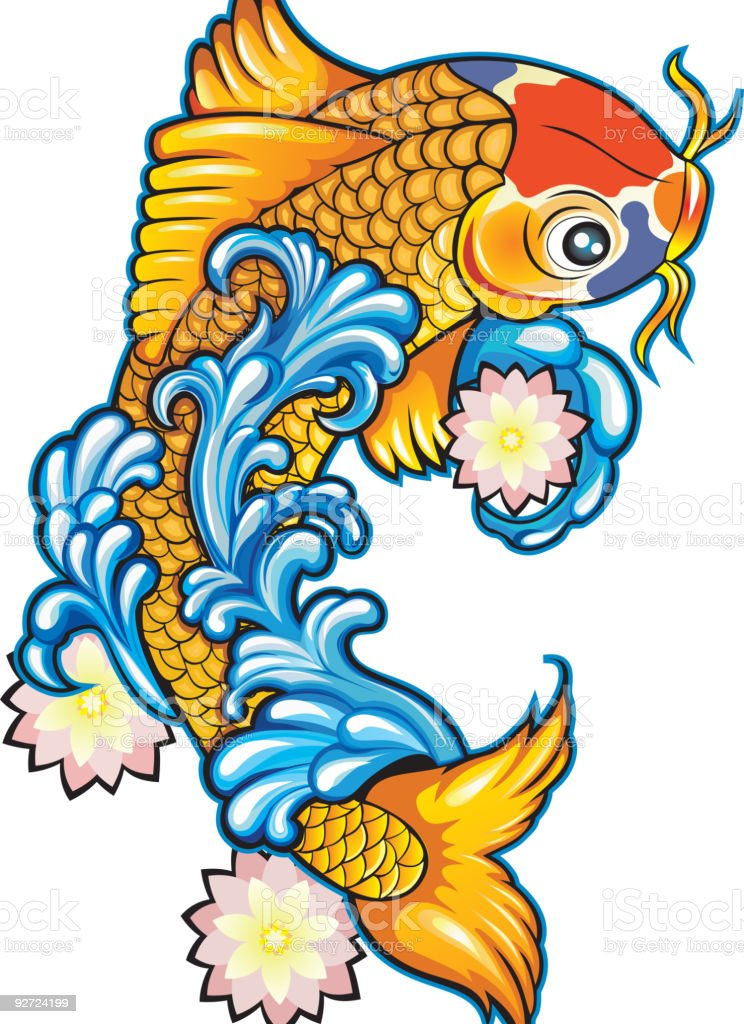 KoiFish royalty-free koifish stock vector art & more images of animal fin