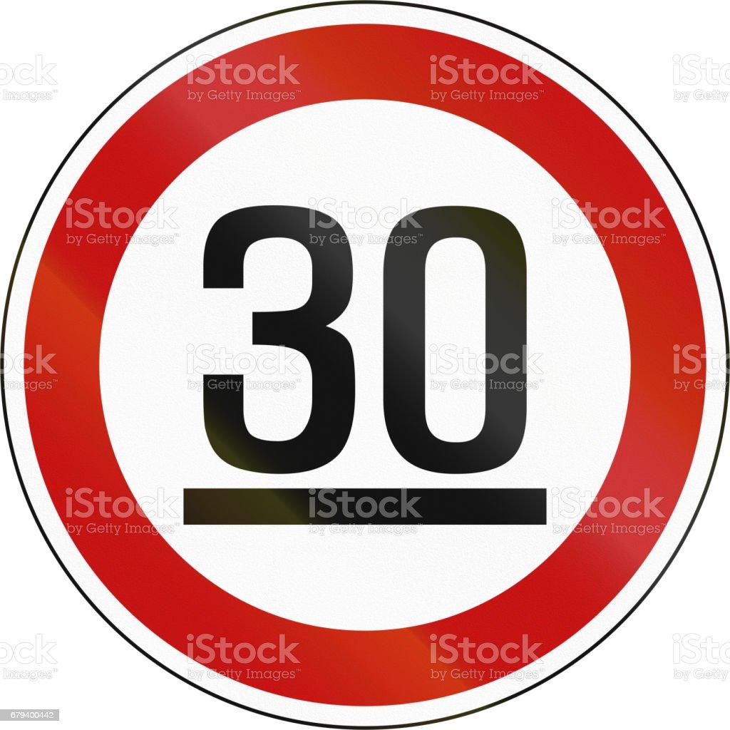 Korea Traffic Safety Sign - Regulatory - Minimum Speed Limit royalty-free korea traffic safety sign regulatory minimum speed limit stock vector art & more images of asia