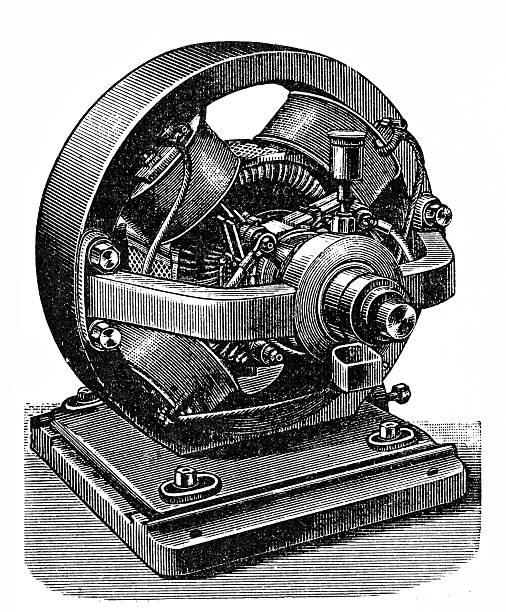 Kummer & Co. electro-magnetic machine vector art illustration