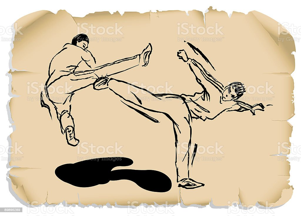 kung_fu_series_1 royalty-free kungfuseries1 stock vector art & more images of aggression