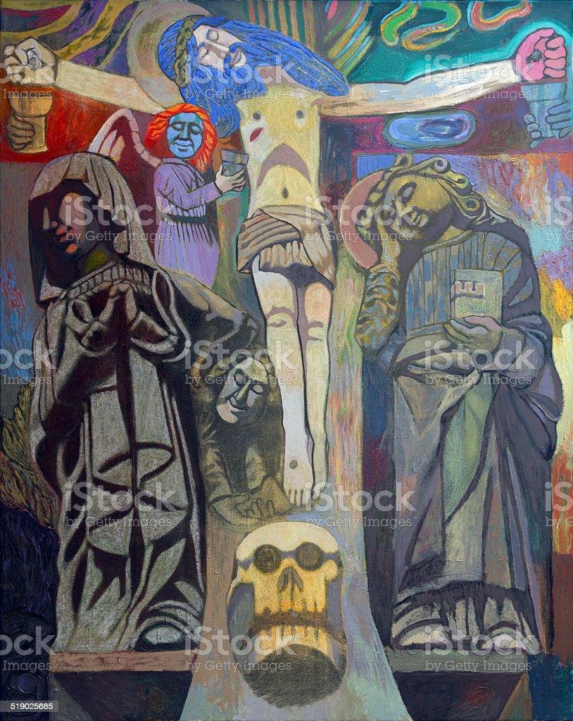 Kurutziaga´s crucifixion vector art illustration