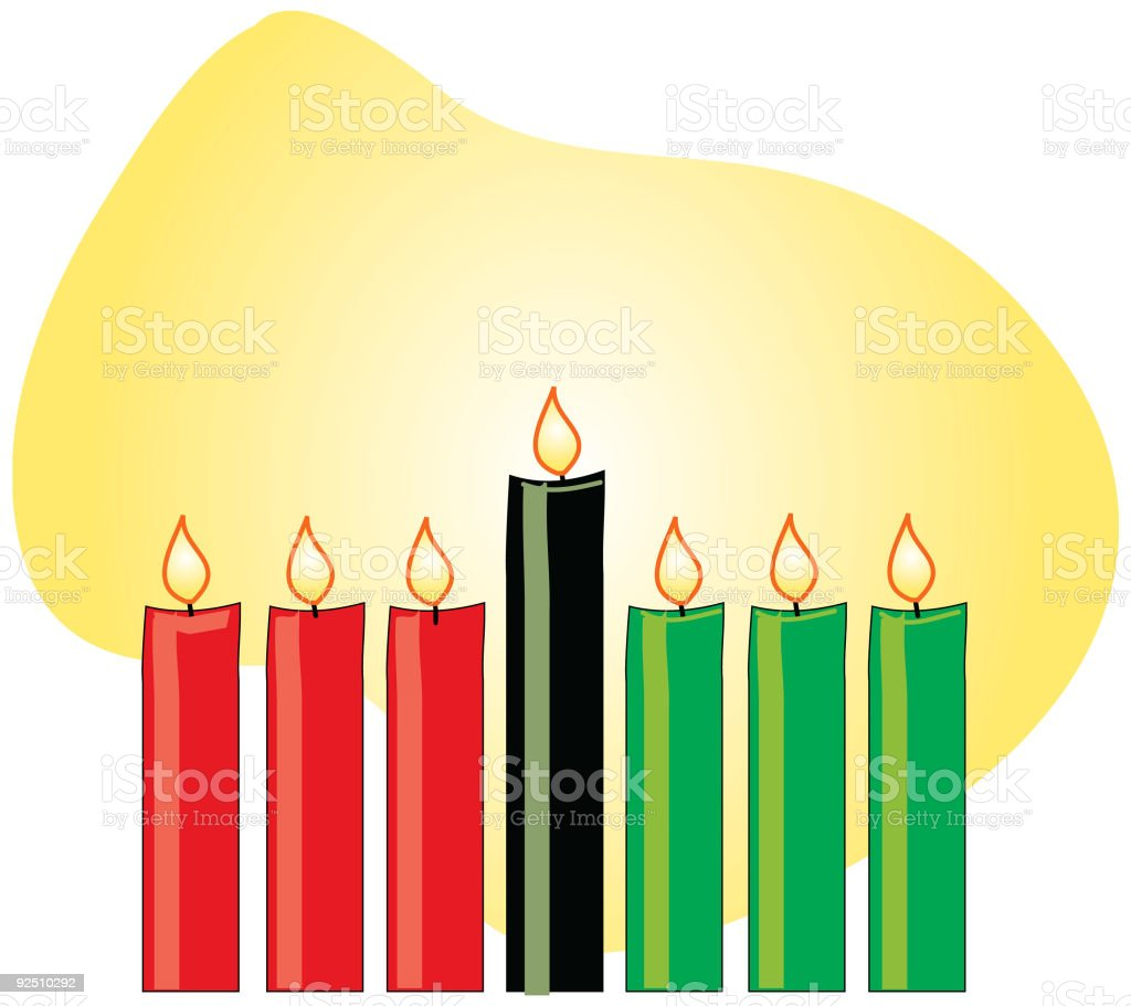 Kwanzaa Candles royalty-free kwanzaa candles stock vector art & more images of african culture
