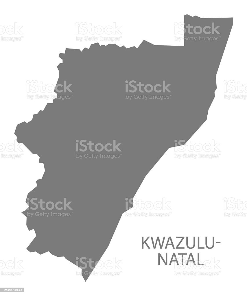 Natal South Africa Map.Kwazulu Natal South Africa Map Grey Stock Vector Art More Images