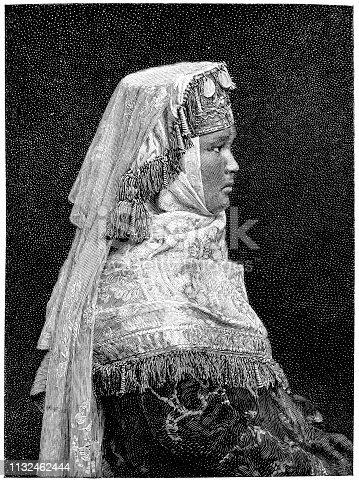 Illustration of a Kyrgyz bride