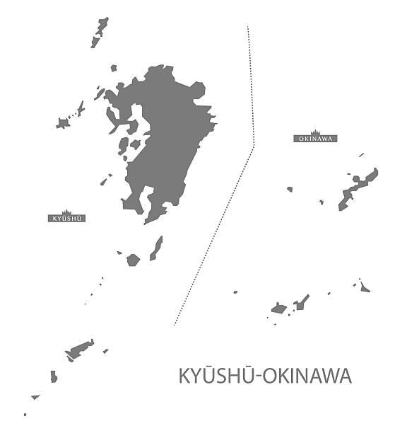 Kyushu Clip Art Vector Images Illustrations IStock - Japan map kyushu