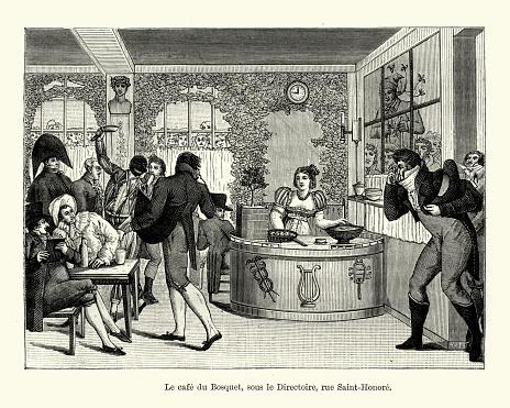 La cafe du Bosquet, Paris during the French Directorate period