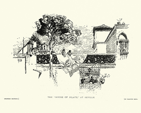 La Casa de Pilatos (Pilate's House), Seville, Spain, 19th Century