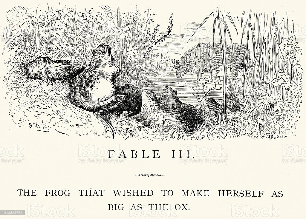 [Image: la-fontaines-fables-the-frog-and-ox-illu...d505395769]