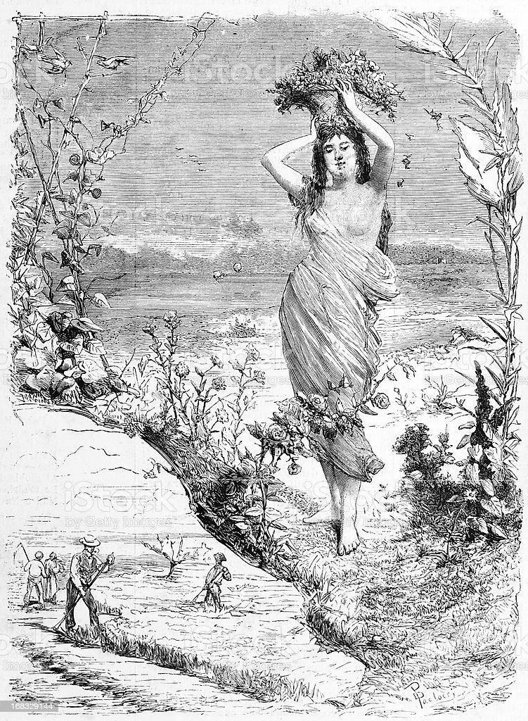 'La Primavera' (Springtime) royalty-free stock vector art