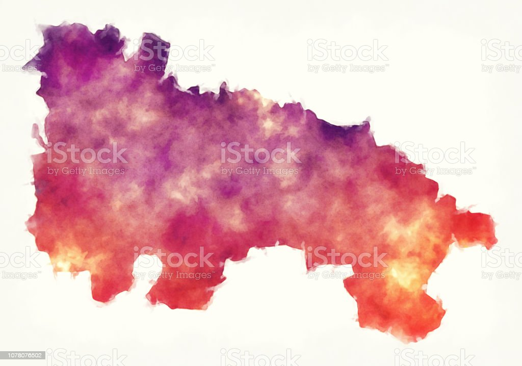 Map Of Spain Rioja.La Rioja Region Watercolor Map Of Spain In Front Of A White