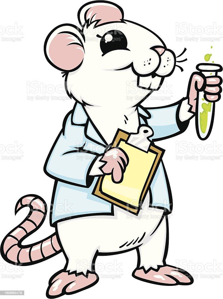 Rata de laboratorio - ilustración de arte vectorial