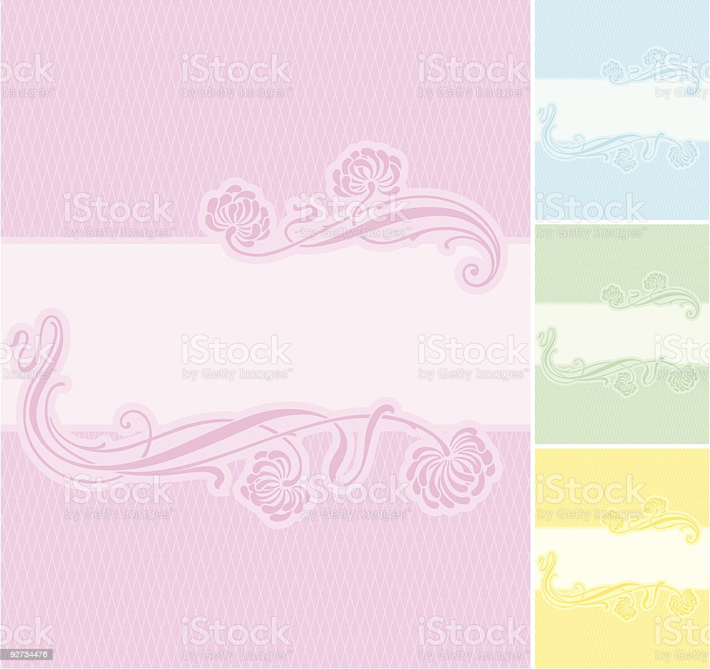 Label Background (vector) royalty-free stock vector art