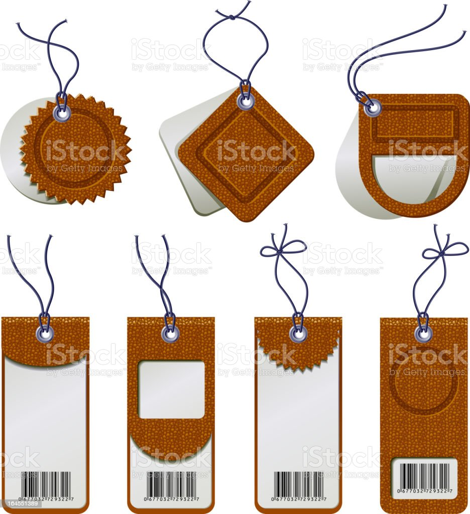Label Cardboard Sales Tags royalty-free label cardboard sales tags stock vector art & more images of bar code