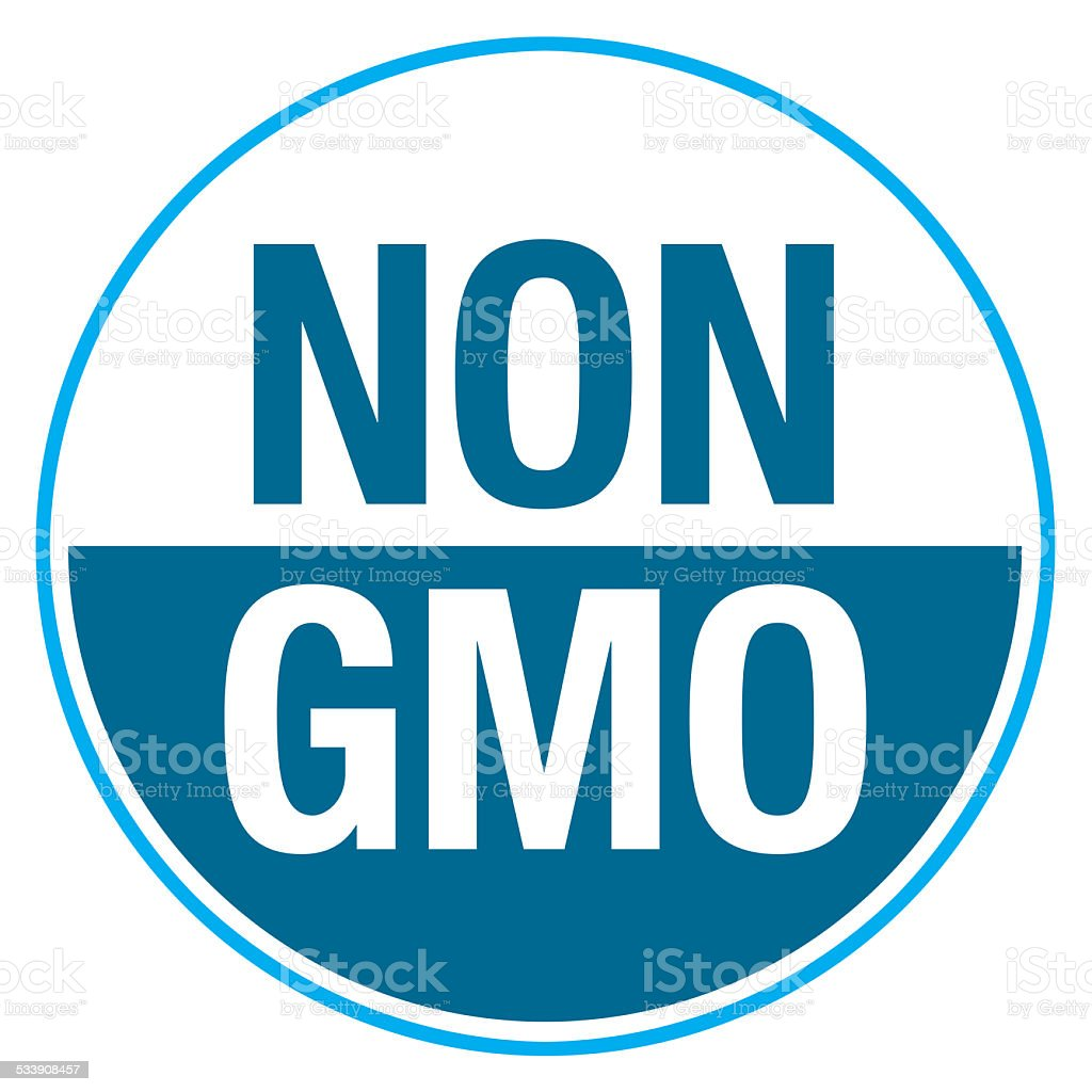 NON GMO Label vector art illustration